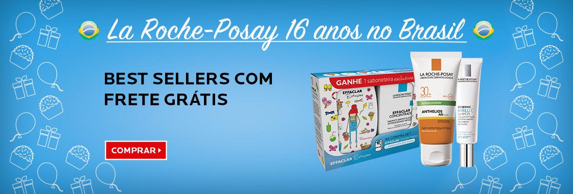 Aniversário: best sellers com frete grátis (novo, ilustrar com Airlicium 30, Effaclar + saboneteira, Redermic Hyalu C UV)